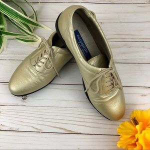 Easy Spirit Anti-Gravity Gold Metallic Sneakers